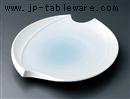 青白磁変形楕円皿(大)