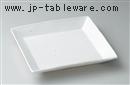 白釉24.8cm正角皿