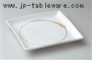 白釉丸抜10.0正角皿