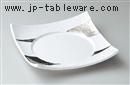 白磁プラチナ7.5寸四方皿