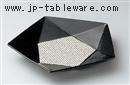 黒結晶小紋盛皿