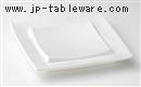 白釉7寸正角皿