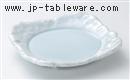 青白磁石焼7.0四方皿