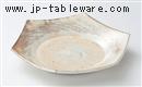 粉引櫛目六角皿
