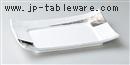 白磁プラチナ9.0寸長角四方皿