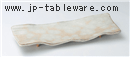 手造り粉引タタキ長角盛皿