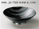 流水黒ライン8.0盛鉢