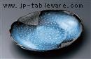 清流楕円小皿