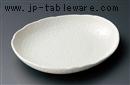 粉引風楕円小皿