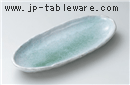 新緑舟形10.0盛鉢