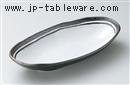 南蛮粉引楕円鉢