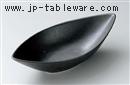 黒化粧舟型皿