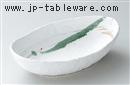 白クシメ楕円大鉢