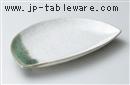 カイラギ織部半月焼物皿