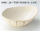 白黒十草変型鉢