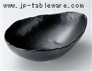 黒マット変形鉢