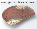 嵯峨野半月焼物皿