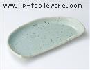 益子均窯半月焼物皿