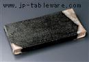 黒鉄釉まな板皿