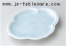 青白磁モッコ型7.0皿