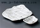 志野かすり変形焼物皿