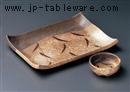 草紋焼物皿