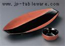 黒釉ブロンズ両上り9寸皿