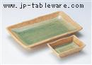 緑彩芦7.0焼物皿