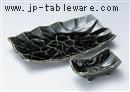 織部手折焼物皿