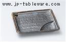 鉄釉一珍ライン7寸仕切皿