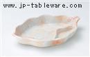 桜志野葉型仕切皿