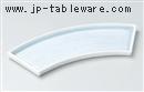 青白磁扇型突出皿