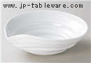 白釉ロクロ目片口7.5鉢