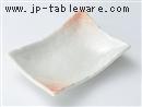ピンクそり12.5cm長角皿