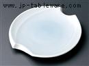 青白磁変形楕円皿(小)