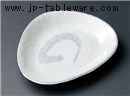 アジアン粉引三角皿(大)