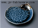 灰ブルーなすび銘々皿