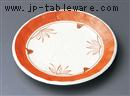 布目赤絵花フルーツ皿