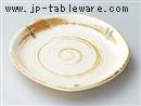 茶粉引フルーツ皿