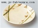 草紋織部5.0丸皿