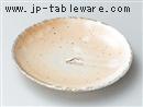 粉引魚紋4.5皿