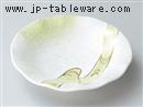 金彩ヒワ波絵フルーツ皿