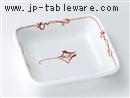 手描き京小花角漬物皿