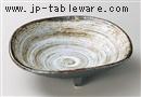 白刷毛三つ足鉢