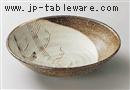 粉引クシメ7寸丸平鉢