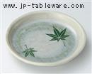 紅葉ビードロ玉渕丸5.5皿