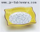 黄さくら角小皿