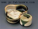 織部松型鉢