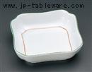 緑彩花四角小鉢