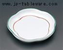 緑彩花丸皿